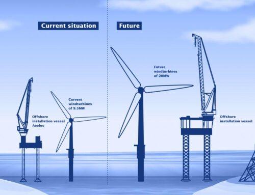 Van Oord bestelt megaschip om 20 MW offshore wind fundaties en turbines te installeren